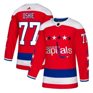 Men's Washington Capitals TJ Oshie adidas Red Alternate Authentic Player Jersey