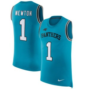 Men's Carolina Panthers Cam Newton Nike Blue Color Rush Player Name & Number Tank Top