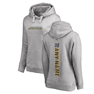 Women's Nashville Predators Fanatics Branded Ash Personalized Backer Pullover Hoodie