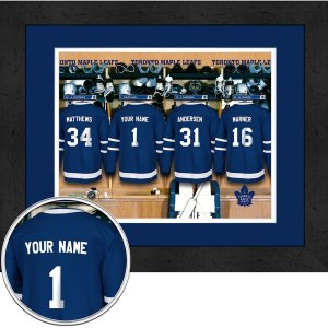 Toronto Maple Leafs Locker Room Framed Print
