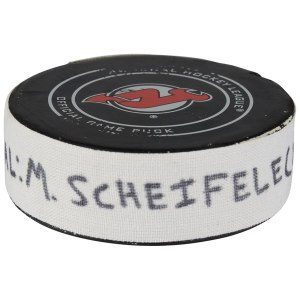 2018 @ New Jersey Devils - First of Two Goals Scored,Winnipeg Jets Mark Scheifele Fanatics Authentic Game-Used Goal Puck from December 1