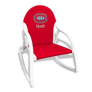 Red Montreal Canadiens Children's Personalized Rocking Chair