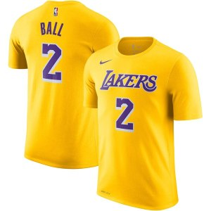 Youth Los Angeles Lakers Lonzo Ball Nike Gold Name & Number T-Shirt