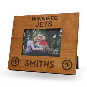 Winnipeg Jets Sparo Brown 9.75'' x 7.75'' Personalized Wood Picture Frame