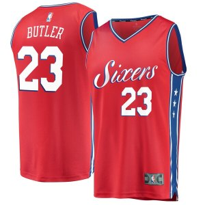 Youth Philadelphia 76ers Jimmy Butler Fanatics Branded Red Fast Break Replica Player Jersey- Statement Edition