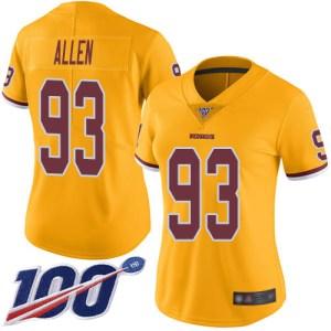 Nike Redskins #93 Jonathan Allen Gold Women's Stit nhl new jerseys 2019 v