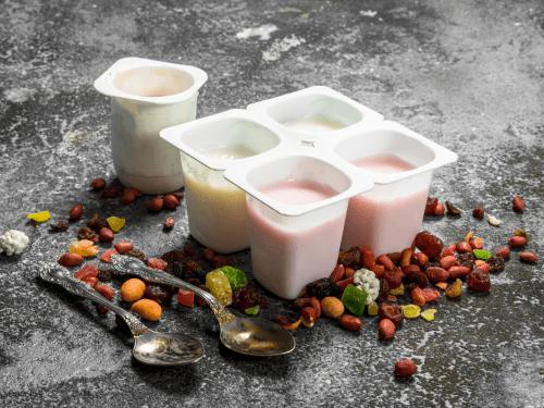High sugar yoghurt