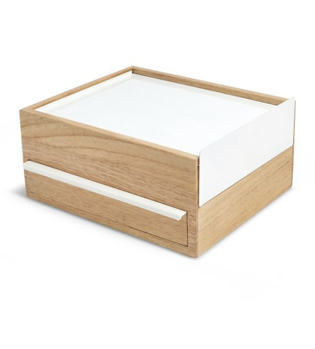 boite a bijoux bois blanc avec tiroirs a compartiments caches