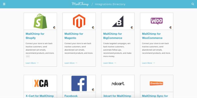 Integrazioni MailChimp