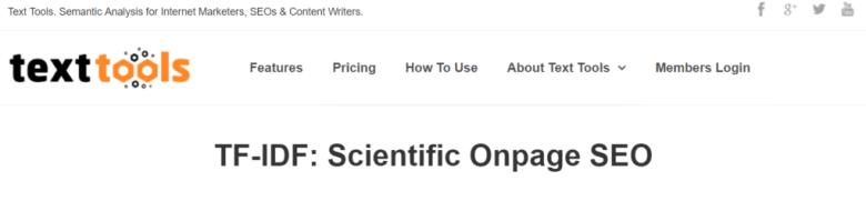Homepage degli strumenti di testo