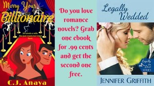 Do you love romance novels_ Grab one ebook for .99 cents and get the second one free.