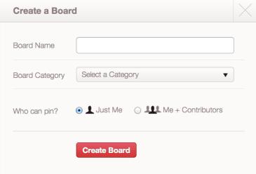 Add a Pinterest Board