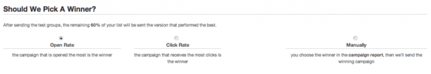 click rate picks winner