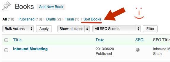 Sort Books MyBookTable