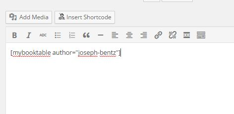 author shortcode