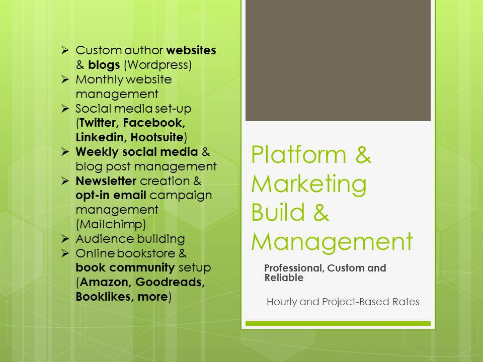 Platform and Marketing, Build and Manage