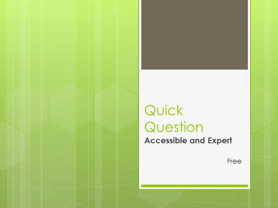 Quick Question Publishing Free