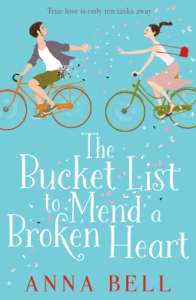 The Bucket List to Mend a Broken Heart by Anna Bell. Cover