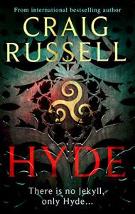 Cover of the book Hyde by Craig Russell with a Celtic design, of three spirals in Gold, the triskelion, on a green and black background.