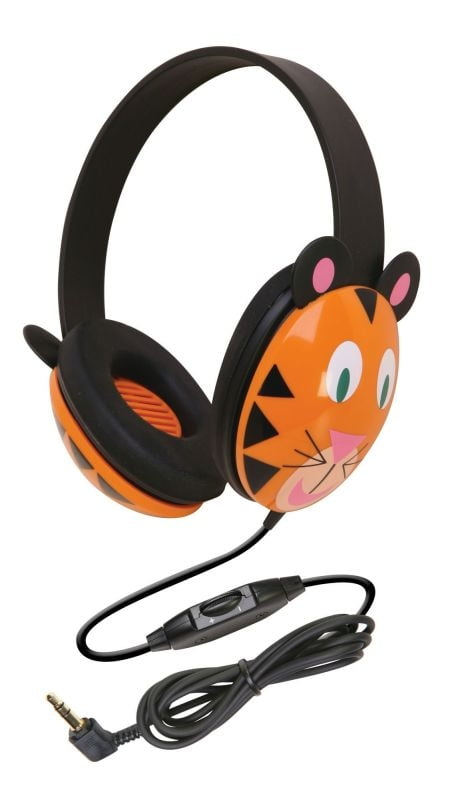 Califone Listening First Kids Wired Headphones (Tiger Design)