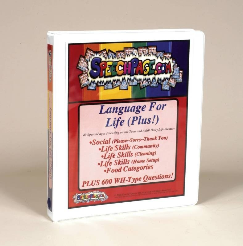 SpeechPage Language for Life Plus Binder