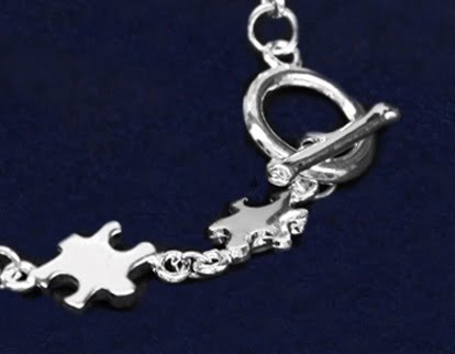 Silver Linked Puzzle Piece Bracelet