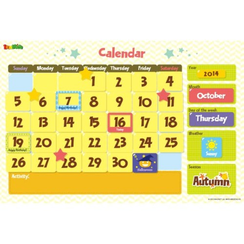 Calendar Magnetic Wall Sticker