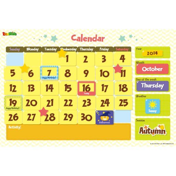 Calendar Magnetic Wall Sticker