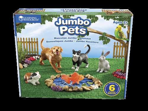 Learning Resources Assorted Jumbo Pets, Set of 6