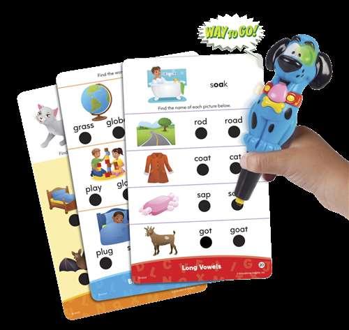 Educational Insights Phonics Fun Hot Dots Jr Set, 80 Cards and 1 Pen