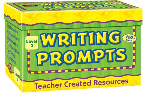 Teacher Created Resources Writing Prompts, Level 2, Includes 120 Cards