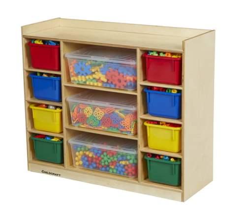 Mixed Storage Shelf with Bins