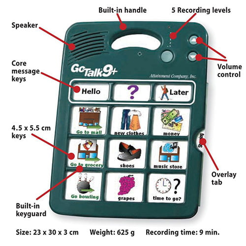 4 Plus Recorder Go Talk 1016621 9 x 12 x 1 In