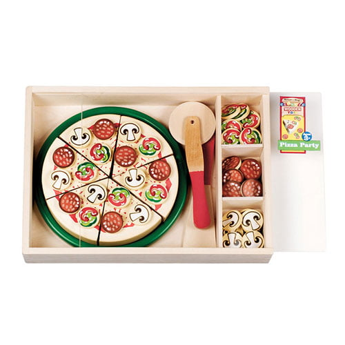 Melissa Doug Special Occasion Play Food Pizza Party Set