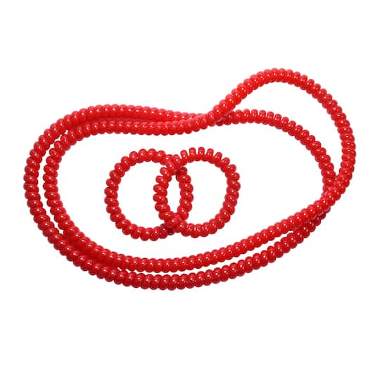 Spiralz Chewy Necklace and Bracelet Combo Red