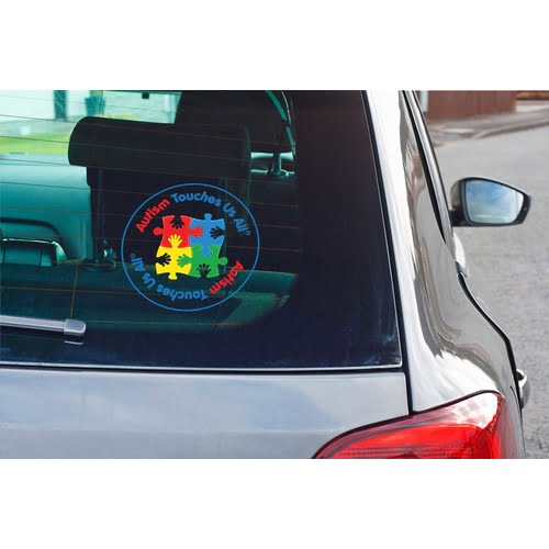 Autism Awareness Sticker Decal Support Children with Autism 2 Pack