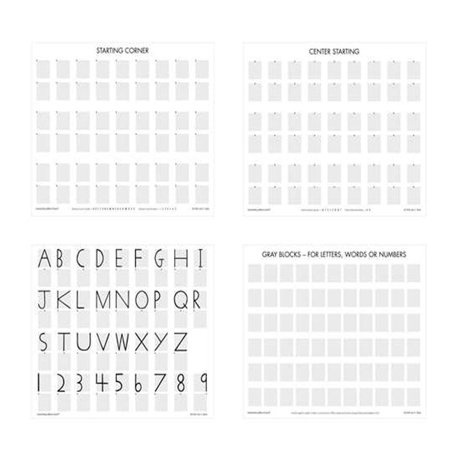 GRAY BLOCK PAPER SET OF 104 SHEETS