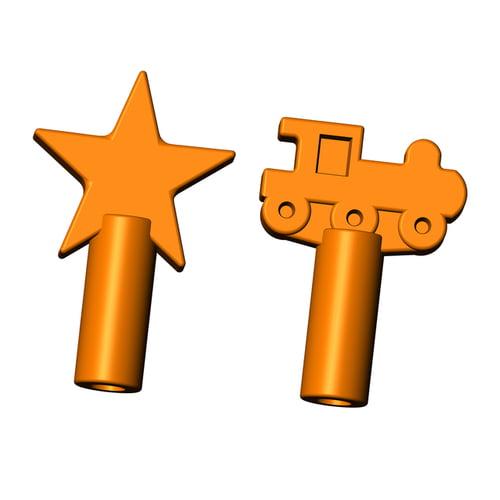train and star pencil topper orange flavor