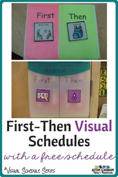 First-Then Schedules are great for students with autism and behavioral needs. Get a free board and read how you can use them in your special education classroom.
