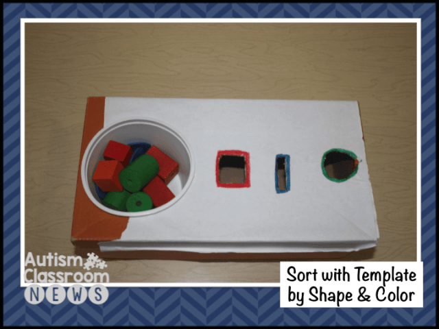 Sort with template by Shape and color