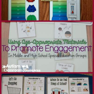 Promoting Engagement Using Age-Appropriate Materials in Middle and High School Special Education Groups