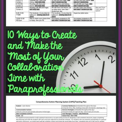 10 Ways to Create Time and Make the Most of Your Collaboration with Paraprofessionals