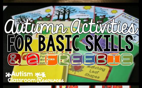 Autumn Activities in an Autism Classroom and a Freebie