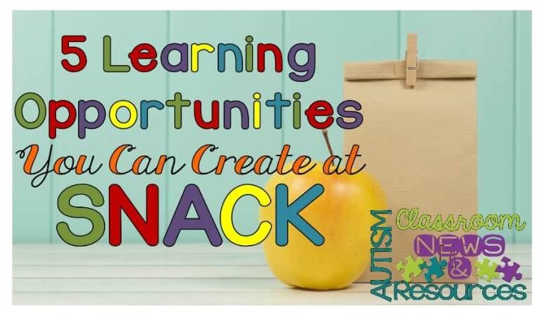 5 Incidental Teaching Opportunities During Snack