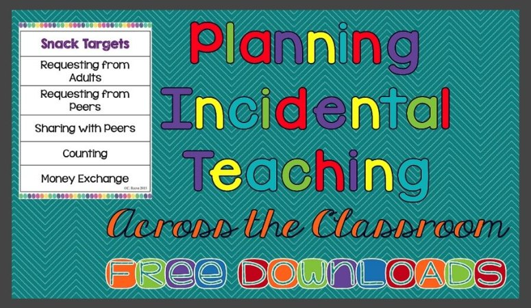 Planning Naturalistic Instruction Across the Classroom with Free Downloads