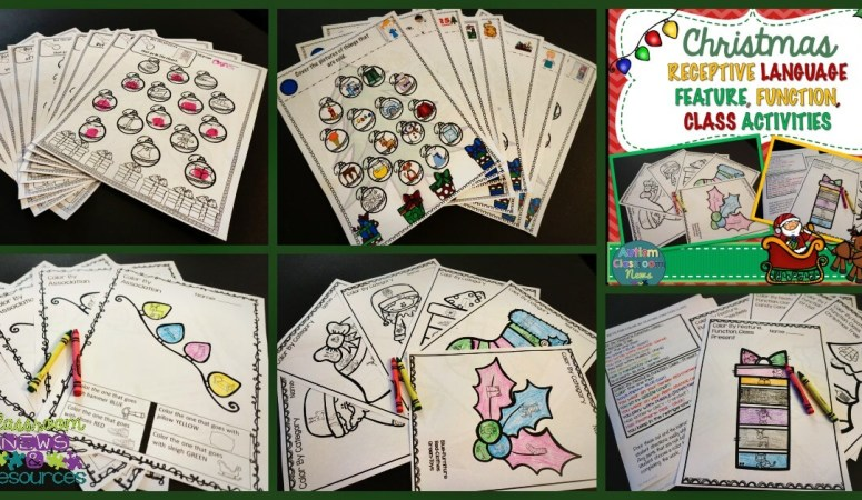 Christmas Receptive Language RFFC Product Facebook from Autism Classroom Resources