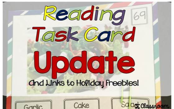 Functional Sight Word Task Cards Update and Holiday Freebies