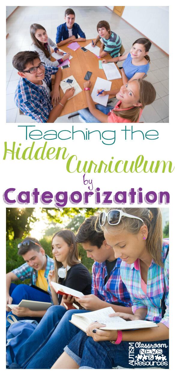 Teaching the Hidden Curriculum by Categorization