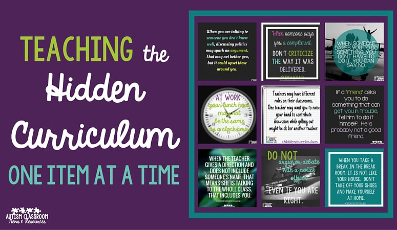 Teaching the Hidden Curriculum: One Item at a Time