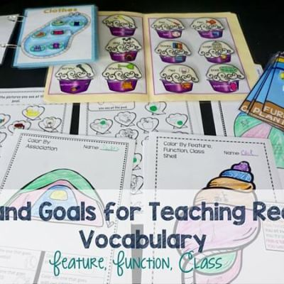 Tips and Goals for Teaching Receptive Vocabulary Skills
